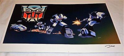 G1 Transformers Autobot Jazz TV Commercial Scene Poster 11x17 Box Art Grid ](Transformers Scene)