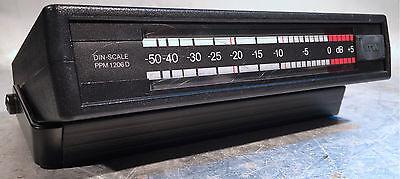 RTW PPM 1206D stereo Peakmeter mit Bügel - absolut genau Cinch XLR Netzanschluss