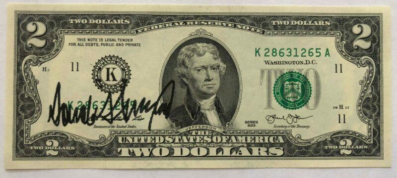 Genuine $2 Bill with the 45th POTUS Donald Trump Signature (rare) 🇺🇸