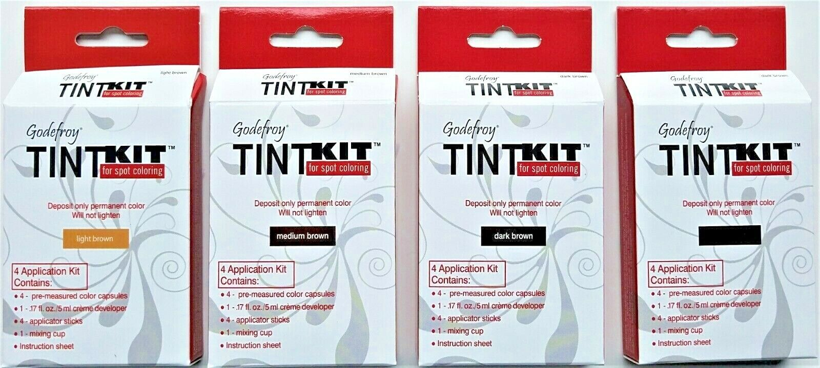 Godefroy TINT KIT Cream Eyebrow Facial Hair Color for Spot Coloring FREE SHIP
