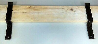 Door Security Brackets (Pair) Drop Open Bar - Heaviest Available - Steel