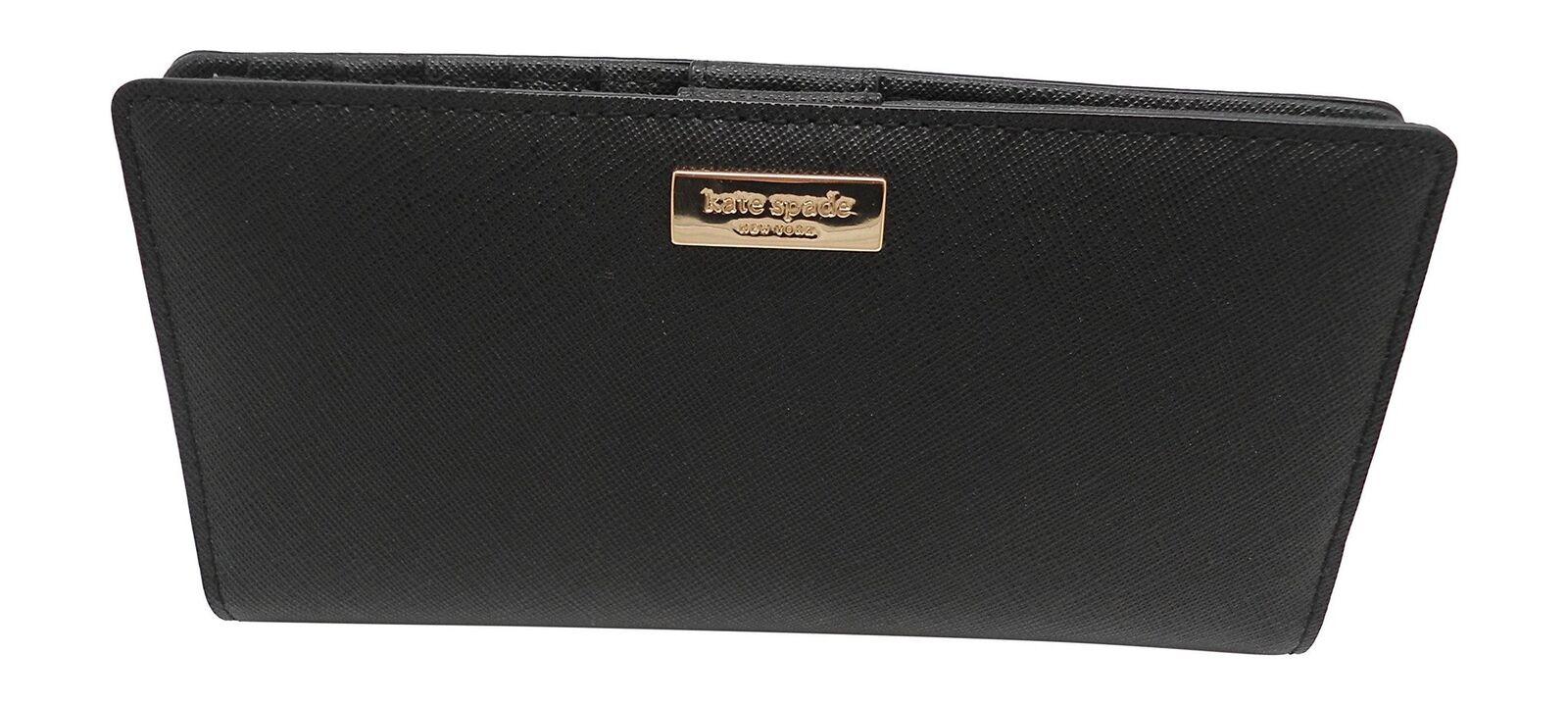38aa79028b7d Kate Spade Laurel Way Stacy Clutch Wallet Black Saffiano WLRU2673 ...