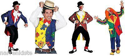 Clown Weste Harlekin Kostüm Anzug Frack Mantel Kasper Clownkostüm (Clown Anzug Kostüm)