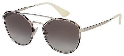 Prada Sunglasses PR 63TS UAO0A7 55 Silver/Havana Frame | Grey Gradient Lens