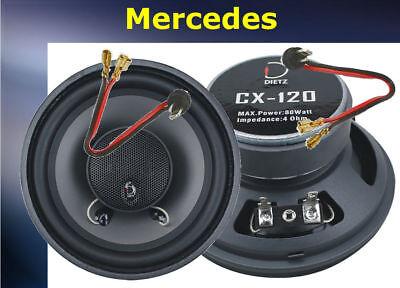 Mercedes W124 Lautsprecher vorne Paar  80Watt  inkl. Kabeladapter Dietz CX120
