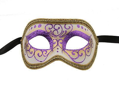 Mask Venice Colombine or Civet Purple & Gold for Fancy Dress 1054