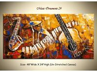 Original Acrylic Music Instruments Painting