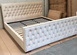 Brand New Velvet Fabric Bed Frame Queen/King Clayton Monash Area Preview