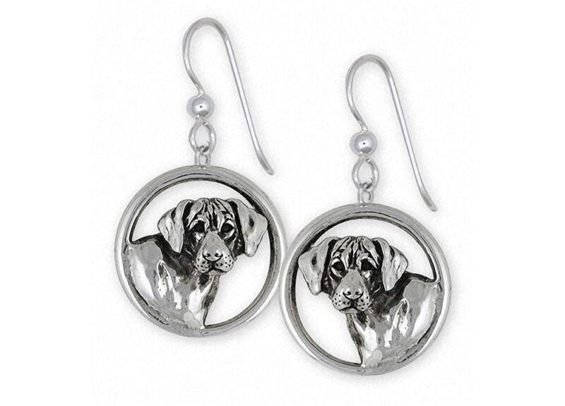 Rhodesian Ridgeback Earrings Jewelry Sterling Silver Handmade Dog Earrings RDG3-