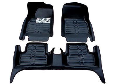 Black Floor Mats FloorLiner For BMW 3 Series 2005 2018 Waterproof All Wether Set