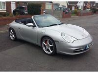 2003 Porsche 996 Convertible 3.6 Tiptronic,Sat Nav,53,000 miles,HARDTOP,WARRANTY. P/X & Credit Cards