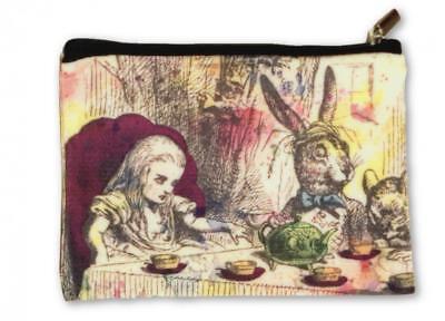 Alice in Wonderland Make Up Bag Cosmetics Pouch Purse Mad Hatter Party - Alice In Wonderland Mad Hatter Makeup