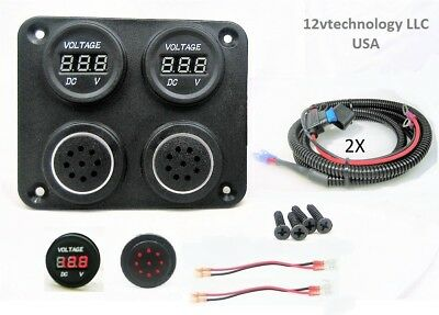 12v Battery Voltmeter Monitor Measures Low Charge Alarm Solar Bank 60 Wires