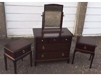 Stag Minstrel Chest of Drawers/ Mirror and 2 x Bedside cabinets - £80 FREE DELIVERY IN EDIN