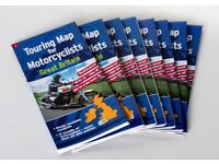 Full set of Waterproof Motorcycle Maps covering the UK. Write-on / wipe-off