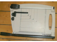 2 in 1 Rotary Paper Trimmer and Guillotine - Interchangeable blades straight, wavy or perforated cut