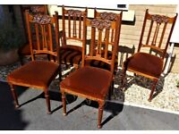 Victorian or Edwardian set of 6 Mahogany Dining Chairs £65 Bargain