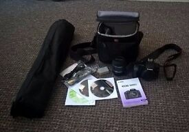 Canon EOS DSLR Camera with Bag and Tripod