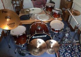 Drum kit - Ludwig CS Custom Elite - full kit with loads of extras!