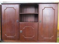 Cupboard, mid -brown colour - Width: 116cm, Depth: 36cm, Height: 84cm - Maidenhead
