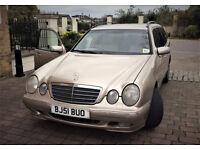 Mercedes E240; auto; estate; 7 seater;