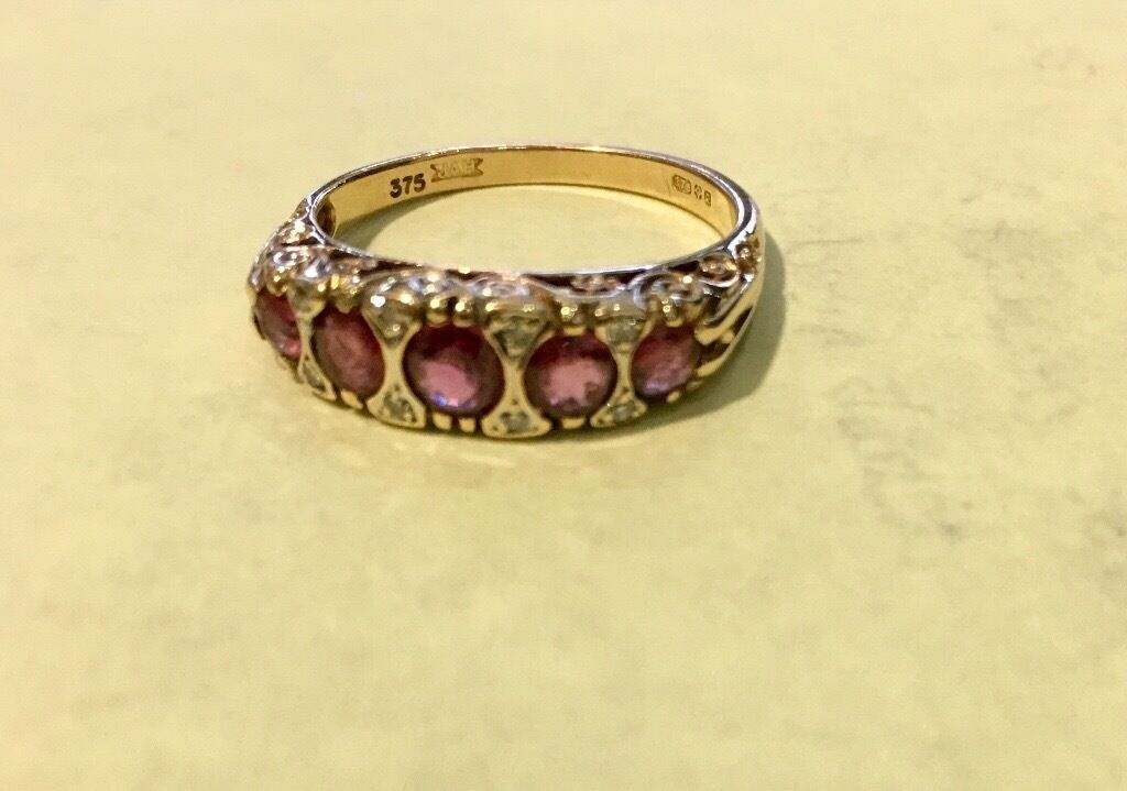 9 Carrot Gold Ruby Ring