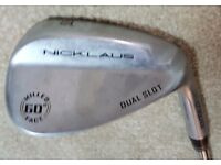 Nicklaus Dual Slot Wedge 60 Degree Milled Face 10* Bounce