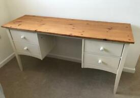 Oak & Cream Painted Dressing Table