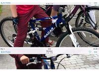 Stolen apollo radar blue bike