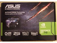 Asus GEFORCE GT 710 2GB RAM graphics card video card hdmi for sell or swap