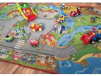 """""""WOW"""" toys/vehicles bundle with car road play mat"""