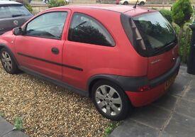 **URGENT - £460 Red Vauxhall Corsa Elegance 2003, 3 door 1.2l