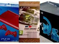 PS3 Racing Bundle - Super Slim 500GB Console + Gran Turismo 5 + Logitech G27 wheel