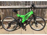 🚴♀️ Luminous Green Mountain Bike 🚴