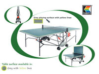 Indoor table tennis table - Kettler - hardly used - grey, folding, with net.
