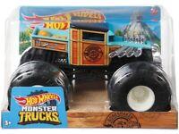 Hot Wheels Monster Truck Vehicle Bone Shaker Die-Cast Metal Truck Giant Wheels 1:24 Scale (NEW)