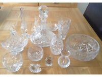 Crystal Glass Decanter, Vases and Fruit Bowls