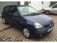 2003 Renault Clio 1.2 Expression 3 door Navy Blue, Trade in car to clear with fresh mot at just £750