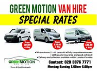 **DAILY VAN HIRE RENTALS AVAILABLE SWB/LWB/SMALL VAN COMPETITIVE PRICES** GREEN MOTION VAN HIRE