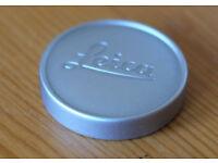 LEICA Push fit 42mm lens cap in satin aluminium finish