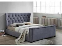 BRAND NEW Birlea Barkley Grey Double Bed Frame