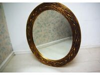 Beautiful fully hand carved Gold mirror