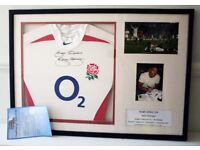 Jason Robinson Rugby World Cup 2003 Signed and framed shirt w/ Certificate of Authenticity