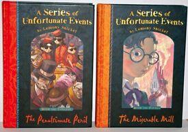 Two Lemony Snicket Hardback Books. (sell separately)