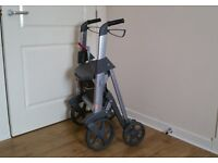 Access Active 4 Wheeled Walker Rollator, Little used