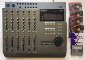 SONY MDM-X4 Mk2 MINIDISC MULTITRACK LIVE/STUDIO MIXER RECORDER and all required recording equipment