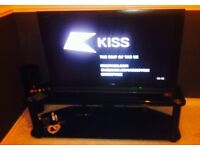 Excellent condition high gloss black TV stand