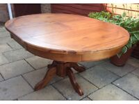 Gorgeous Hardwood Extending Dining Table.