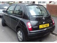 Black Manual Nissan Micra 1.2 litre 5 doors Good Tyres, Battery, Clutch etc