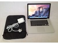 "MacBook Pro 15""4inch 500GB HD Speed 2.8 GHz 4GB Ram Graphics NVIDIA GeForce 9400M 256 MB Capitan"